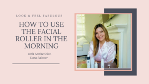 How to use the facial roller in the morning